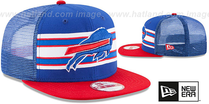 Bills 'THROWBACK-STRIPE SNAPBACK' Royal-Red Hat by New Era