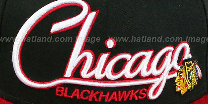 Blackhawks '2T CHARZ SNAPBACK' Black-Red Hat by New Era
