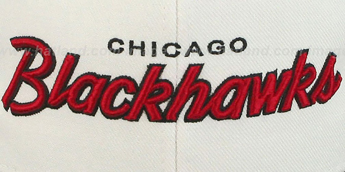 Blackhawks '2T HEADLINER SNAPBACK' White-Black Hat by Zephyr
