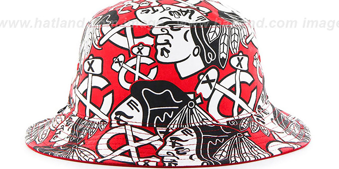 Blackhawks 'BRAVADO BUCKET' Hat by Twins 47 Brand