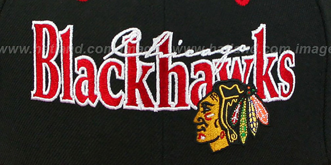 Blackhawks 'CLASSIC-TAG SNAPBACK' Black-Red Adjustable Hat by New Era