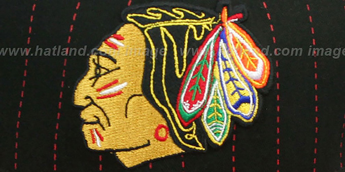 Blackhawks 'PINSNAP SNAPBACK' Black-Red Hat by New Era