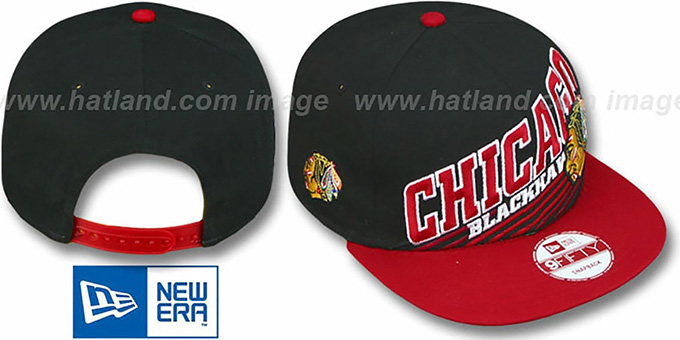 Blackhawks 'STILL ANGLIN SNAPBACK' Black-Red Hat by New Era