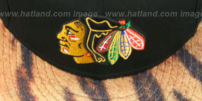 Blackhawks 'TIGER ANIMALISTIC-FUR VIZA STRAPBACK' Hat by New Era
