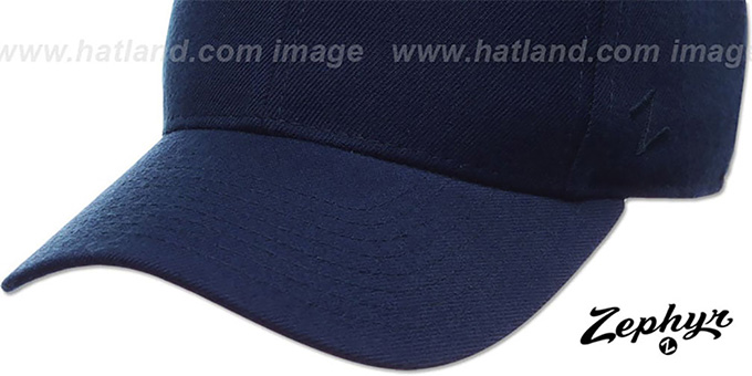 Blank 'DH NAVY' Fitted Hat by Zephyr