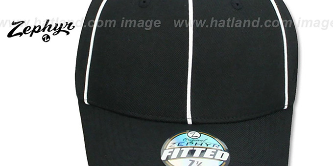 Blank 'DH REFEREE' Black-White Fitted Hat by Zephyr