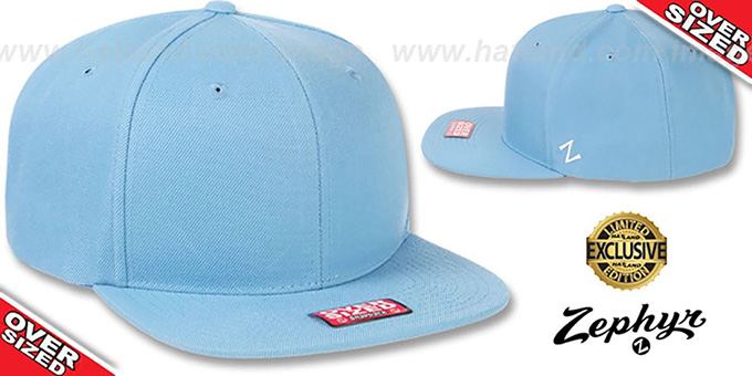 Blank 'OVER-SIZED SNAPBACK' Sky Hat by Zephyr