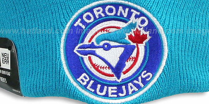 Blue Jays COOP 'CIRCLE' Royal-Sky Knit Beanie Hat by New Era