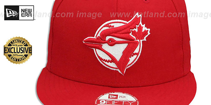 82284e468f0 ... Blue Jays COOP  TEAM-BASIC SNAPBACK  Red-White Hat by New Era ...