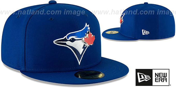 Blue Jays 'METAL-N-THREAD' Royal Fitted Hat by New Era