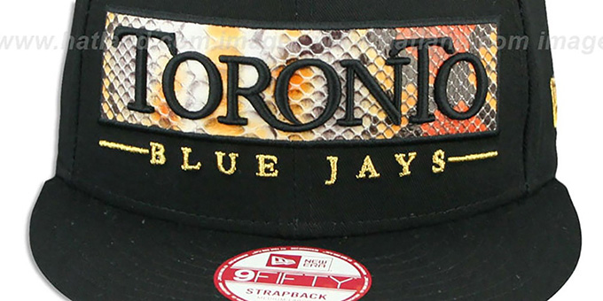 Blue Jays 'SNAKE-WORD STRAPBACK' Black Hat by New Era