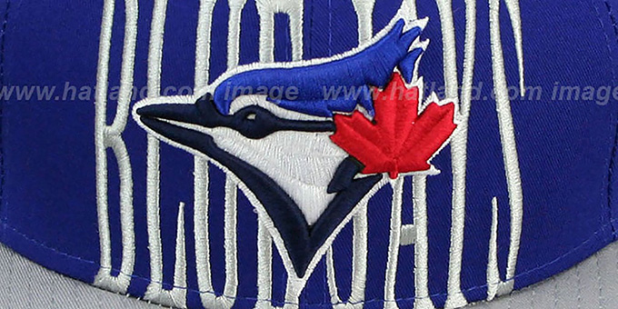 Blue Jays 'STEP-ABOVE SNAPBACK' Royal-Grey Hat by New Era