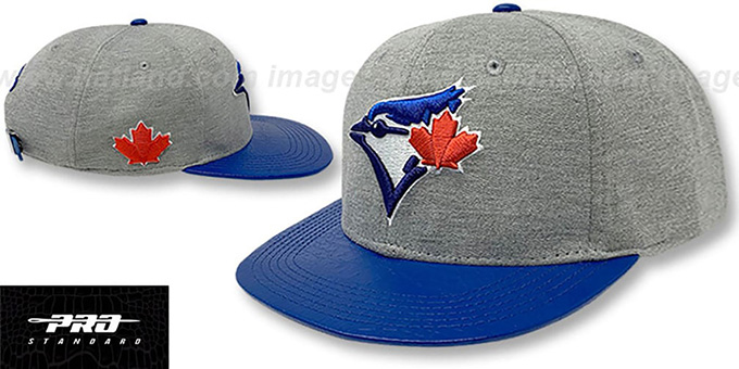 Blue Jays 'TEAM-BASIC STRAPBACK' Grey Royal Hat by Pro Standard