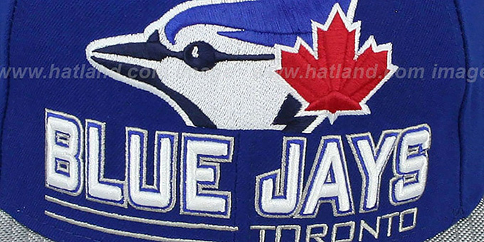 Blue Jays 'TECH MARK' Royal-Grey Fitted Hat by New Era