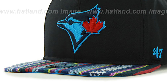 Blue Jays 'THE-DUDE SNAPBACK' Black-Blue Hat by Twins 47 Brand