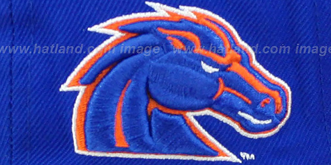 Boise State '2T SUPER-ARCH SNAPBACK' Royal-Orange Hat by Zephyr