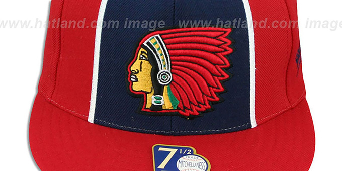 Boston Braves 'ZELLA' Fitted Hat by Mitchell and Ness