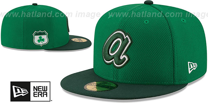 590d9b56d ... Braves '2017 ST PATRICKS DAY' Hat by New Era ...