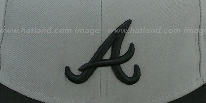 Braves '2T TEAM-BASIC' Grey-Black Fitted Hat by New Era