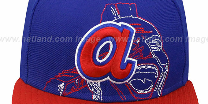 Braves COOP 'NEW MIXIN' Royal-Red Fitted Hat by New Era
