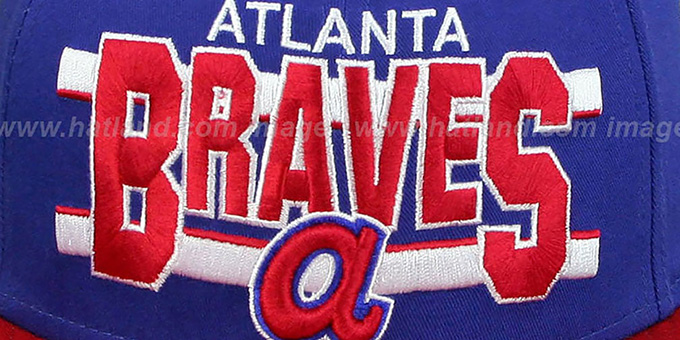 Braves COOP 'WORDSTRIPE SNAPBACK' Royal-Red Hat by New Era