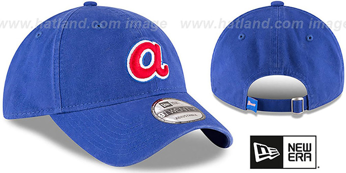 Braves 'COOP CORE-CLASSIC STRAPBACK' Royal Hat by New Era