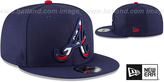3e0f52bd875b45 ... hot braves flag fill insider snapback navy hat by new era 4cc7d 4e245