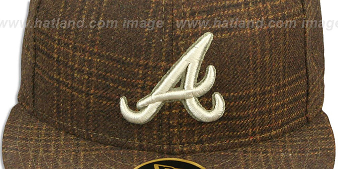 Braves 'HARRIS TWEED' Fitted Hat by New Era
