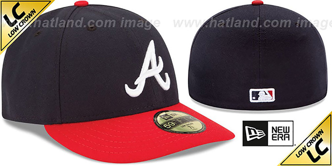 Atlanta Braves LOW-CROWN HOME Fitted Hat by New Era 5bb6b416ffd