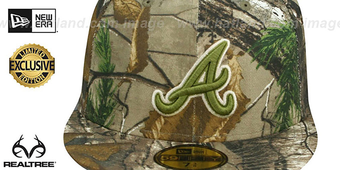 Braves 'MLB TEAM-BASIC' Realtree Camo Fitted Hat by New Era