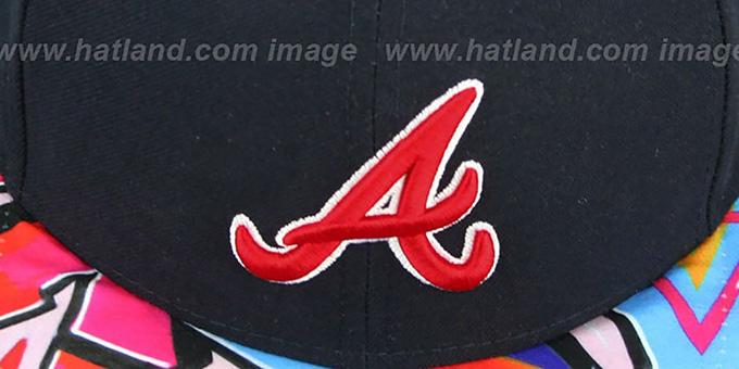 Braves 'REAL GRAFFITI VIZA-PRINT' Navy Fitted Hat by New Era