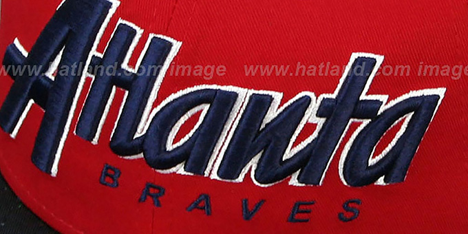 Braves 'SNAP-IT-BACK SNAPBACK' Red-Navy Hat by New Era