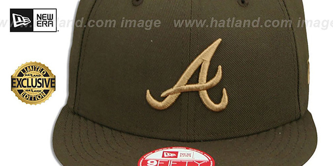 Braves 'TEAM-BASIC SNAPBACK' Brown-Wheat Hat by New Era