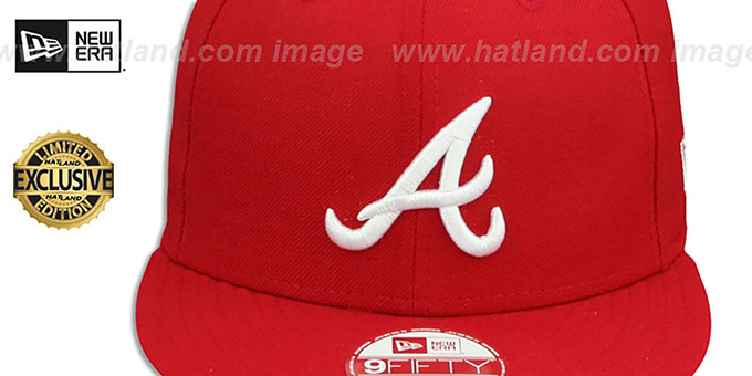 Braves 'TEAM-BASIC SNAPBACK' Red-White Hat by New Era