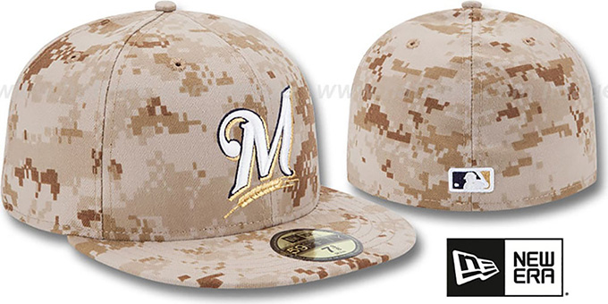 Brewers 2013 'STARS N STRIPES' Desert Camo Hat by New Era