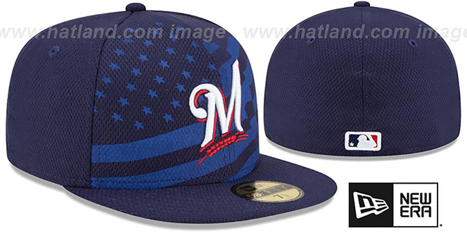 Brewers '2015 JULY 4TH STARS N STRIPES' Hat by New Era