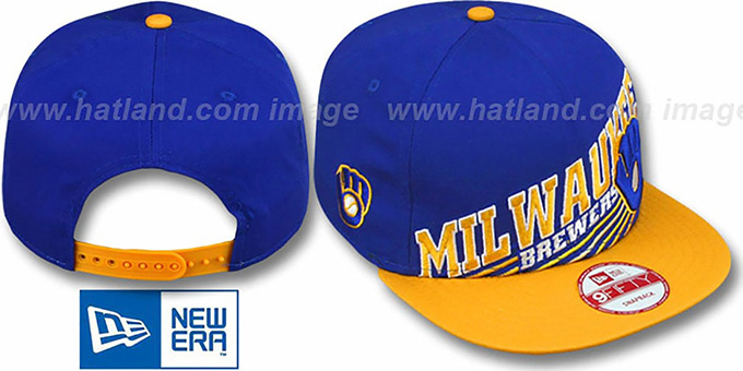ecd9d26aab269 ... Brewers COOP  STILL ANGLIN SNAPBACK  Royal-Gold Hat by New Era ...