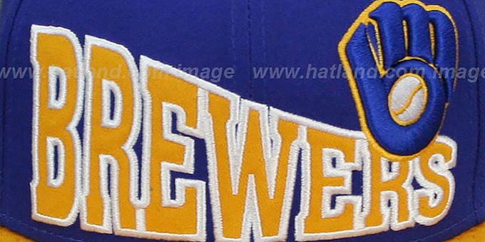 Brewers COOP 'STOKED SNAPBACK' Royal-Gold Hat by New Era