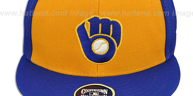 Brewers'1982 COOPERSTOWN ' Fitted Hat by Twins 47 Brand