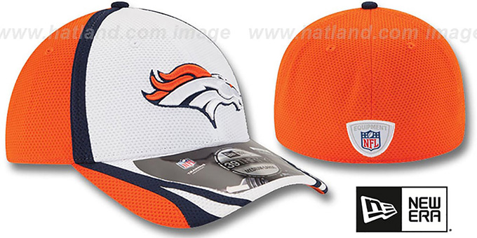 Broncos '2014 NFL TRAINING FLEX' White Hat by New Era