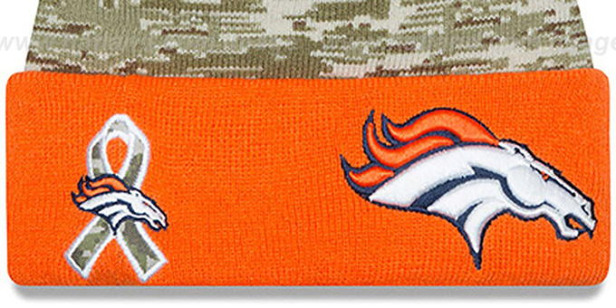 Broncos '2015 SALUTE-TO-SERVICE' Knit Beanie Hat by New Era