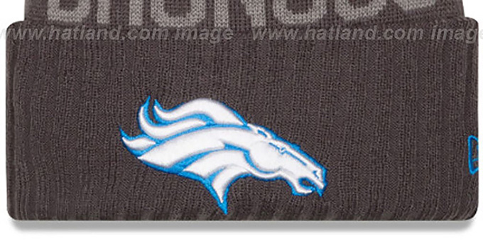 Broncos '2015 STADIUM' Charcoal-Blue Knit Beanie Hat by New Era