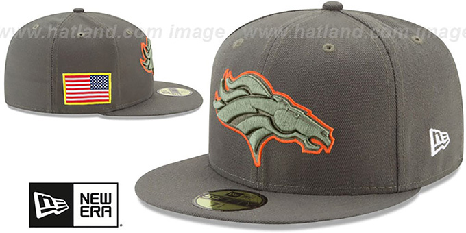 Broncos '2017 SALUTE-TO-SERVICE' Green Fitted Hat by New Era