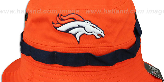 66efefb30 Denver Broncos ADVENTURE Orange Bucket Hat by New Era