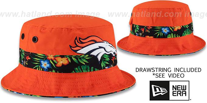 78bd0dc72 Denver Broncos BLOOM SUB-BANDED Orange Bucket Hat by New Era