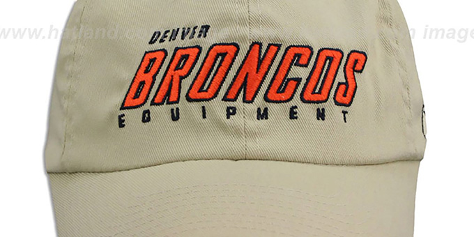 Broncos 'EQUIPMENT FLEX' Khaki Hat by Reebok