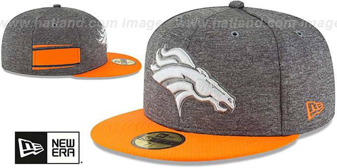 Broncos 'HOME ONFIELD STADIUM' Charcoal-Orange Fitted Hat by New Era