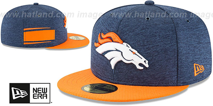 Broncos 'HOME ONFIELD STADIUM' Navy-Orange Fitted Hat by New Era