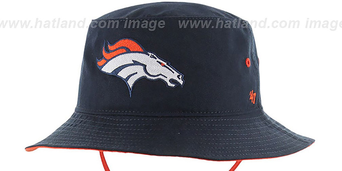 Broncos 'KIRBY BUCKET' Navy Hat by Twins 47 Brand