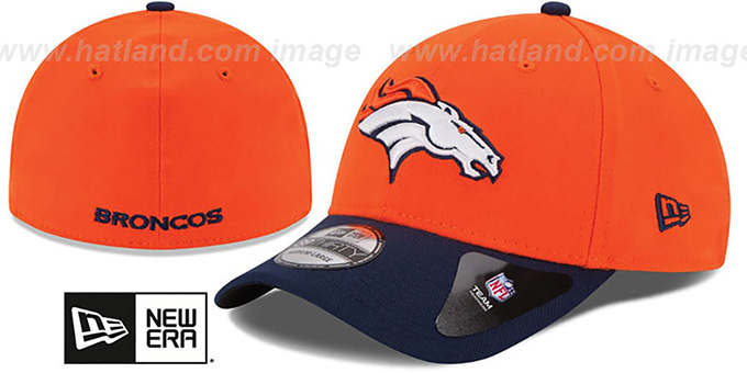 1975ac189 ... Broncos  NFL 3X SUPER BOWL CHAMPS FLEX  Orange-Navy Hat by New Era ...